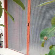 Cửa Chống Muỗi Xếp Màu Nâu Cà Phê (Copy) (Copy)